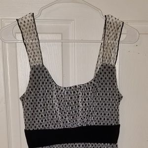 Polka dot tank top mesh and lined inside